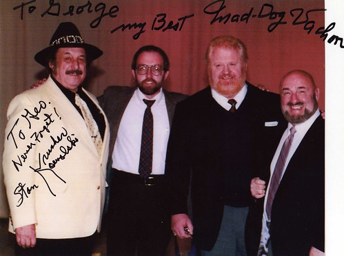 George with Big K, Hennig, and Vachon