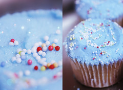 Too pretty to be eaten (heartbreaker [London]) Tags: blue cute sparkles dessert yummy diptych pretty delicious cupcake sprinkles frosting heartbreaker
