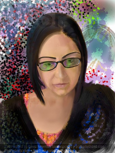 iPad Portrait of Amina Abdulla, Analytics Engineer at Disney Mobile, via Women 2.0 Founder Labs by DNSF David Newman