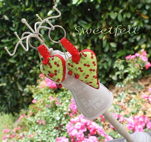 ♥♥♥ Para quem  ♥  cerejas... by sweetfelt \ ideias em feltro