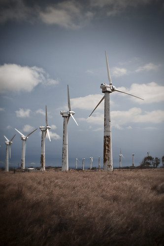Old Abandoned Wind Turbines