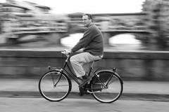 I want to ride my bike (guido.masi) Tags: street blackandwhite bw white black bicycle canon eos florence streetphotography masi bn firenze panning bianco nero guido biancoenero pontevecchio pontestrinita guidomasi