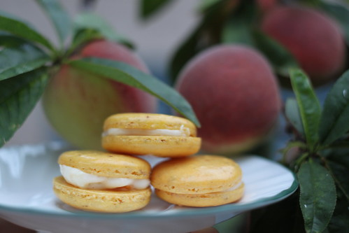 Peaches and Cream Macaron