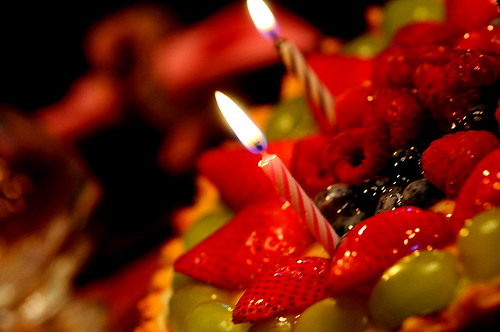 Candles on a cake