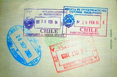 Chile and India: stamps