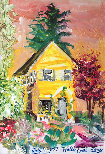 Wallingford House, 4th of July, painting by Linda Lane, Collection of the house owners in the Wallingford neighborhood of Seattle, Washington, USA by Wonderlane