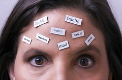 Negative Thoughts (gardner-photo) Tags: female think magnets negative thoughts thinking angry mad frantic forehead browneyes magnet positivethinking wordmagnets negativethoughts