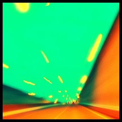 The Road Ahead (Amy Palomar) Tags: trip blue orange abstract mi evening march lsd fisheye explore ave woodward trippy 2008 picnik 696 iprefersquares