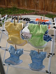 曬布尿布(cloth diapers are drying)