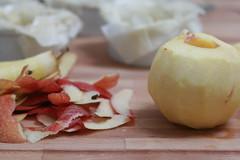 Pomme épluchée