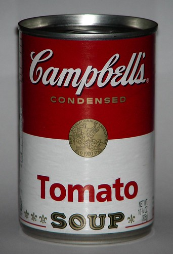 Actual Campbell's Tomato Soup can