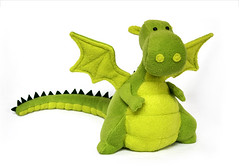 Yoki the Fat Dragon (Fluffels) Tags: cute pattern dragon handmade sewing sew fleece diyfluffies