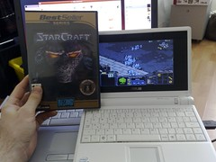 Starcraft on an Asus eee 2G Surf