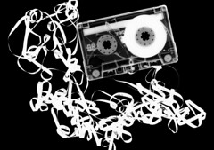 (ici et ailleurs) Tags: music broken darkroom retro mixtape tape 80s xray 1980s cassette cracked photogram rayograph cassettetape selfdeveloped contactprint schadograph