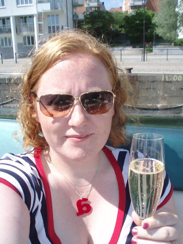 me with champagne