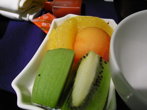 機内食 フルーツ