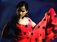 Kvinna dansar Flamenco
