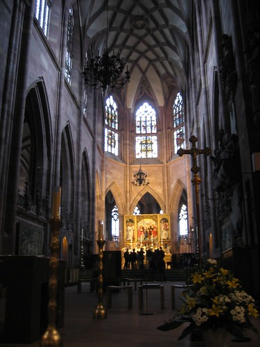 The altar and ceiling