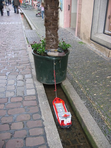 Toy boat in Freiburg