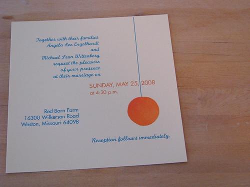 Orange Wedding Invitation Set-1