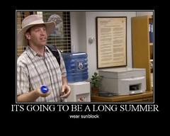 Summer with Toby (monkey on the lam) Tags: motivator theoffice