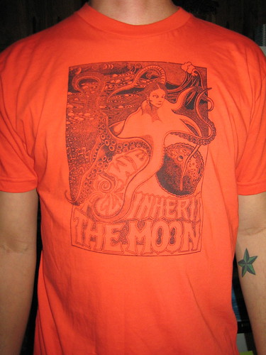 moon shirt in orange