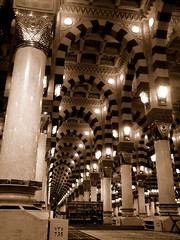 Grand Mosque, Madina Saudi Arabia (Shakir's Photography) Tags: light arch interior pillar grand mosque madina saudi arabia column   shanko masjed  blueribbonwinner                 platinumphoto    goldstaraward damniwishidtakenthat jediphotographer