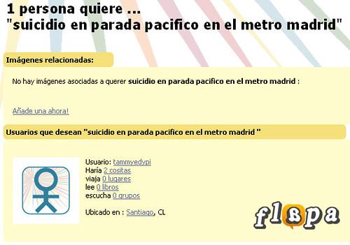 La gente desea suicidarse en el Metro de Madrid
