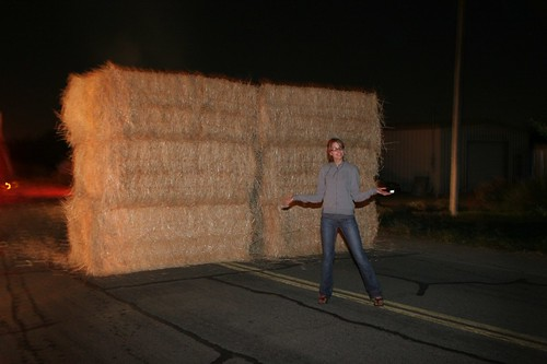 a wall of hay?