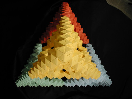 Sierpinski Tetrahedron Origami Modular : 折り紙 ます : 折り紙