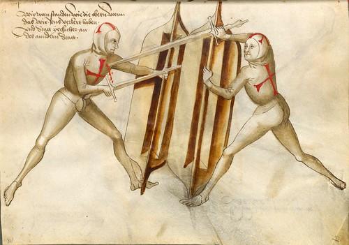 06-Lucha sin armadura con escudo y espada al mado suavo 67r