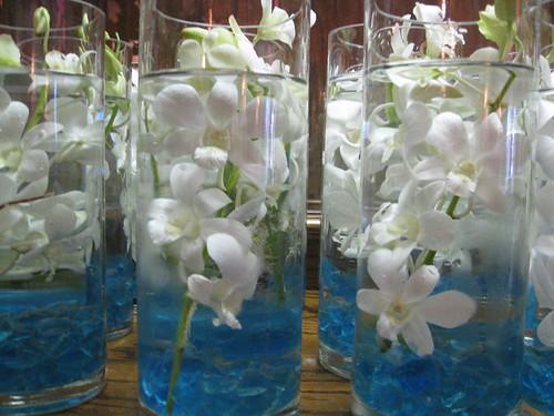 submerged flower centerpieces. submerged dendrobium