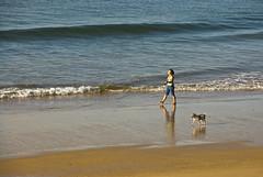Walking the dog (tanera) Tags: blue dog beach portugal animals sand algarve tidal alvor wwwtaneracouk