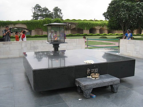 Site of Gandhi's cremation
