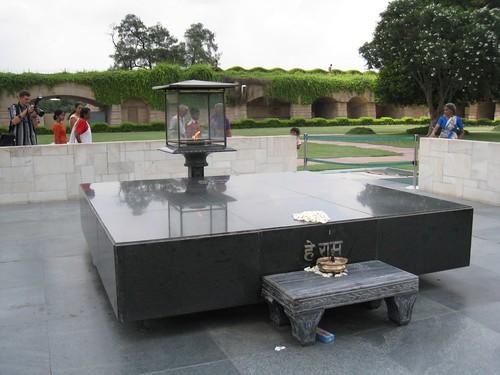 Site of Gandhi's cremation