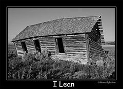 I Lean (Woody 50) Tags: roof house home outdoors log cabin nikon d70 empty rustic scenic idaho western homestead deserted decrepid abandond collapsing