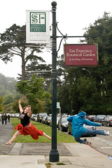 Tree Sprites (SunCat) Tags: sf sanfrancisco california travel friends vacation jumping san francisco all sfo katie sparklers molly explore 4thofjuly 2008 eoshe
