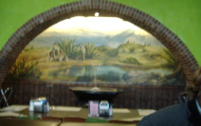 Ernie Jr.'s Taco House Fountain and Painting