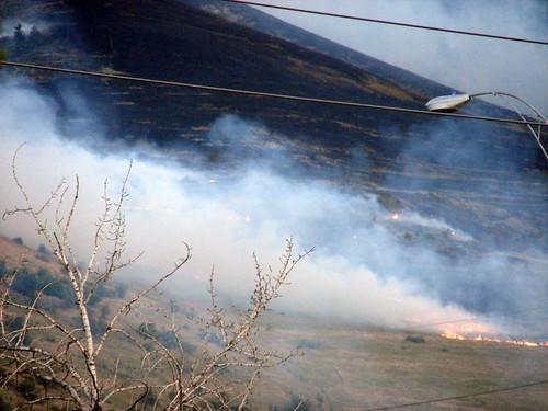 Fire on Mount Sentinel