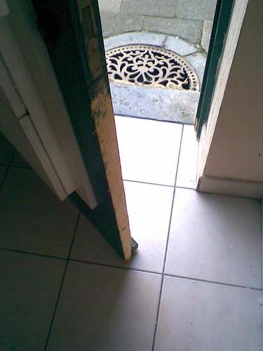 Broken front door