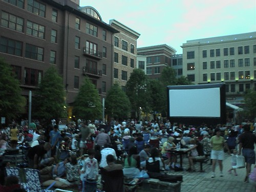 Outdoor Movies on the Square in Rockville, Maryland