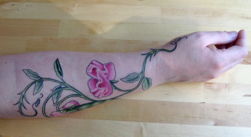 Side Shot of Tattoo with Wrist/Thumb
