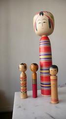Kokeshis (Caio Estudio Manus) Tags: japan puppet antique japão kokeshi japanesetoys manus japanesedoll wooddoll