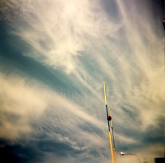 why? (microabi) Tags: ireland clouds holga colours lookup cranes catchy sneem ringofkerry