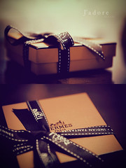 A gift for a special person.. (Jadore Allure) Tags: love happy very thank gift u present much ribbon jd hermes allure jadore birhday
