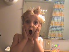 **GASP** (:) ~*Miss rAcHeL*~ <3) Tags: camera bathroom shower video brother curtain tub cj bathtime shocked duckey