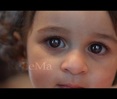 ..    (ReEeMa) Tags: portrait baby girl kid eyes blonde  haya   foucs  reeema ayaa ayaaya