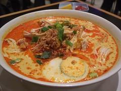 Curry Laksa - Nelayan (avlxyz) Tags: chicken soup restaurant milk coconut curry noodle spicy coconutmilk malaysian indonesian laksa lemak santan nelayan currylaksa nelayanindonesianrestaurant