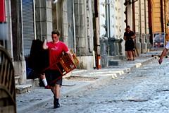 moving chairs (flavi_photos) Tags: city vintage fuzzy random romania actionshot