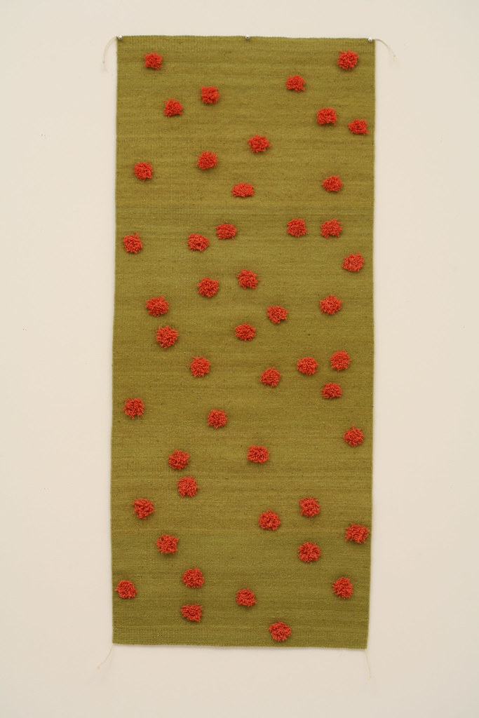 Lime & Coral Knotted Dot